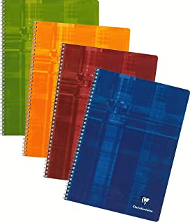 Clairefontaine Classic Wirebound Notebooks 8 1/4 in. x 11 3/4 in. ruled with margin 50 sheets colors may vary