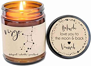 Virgo Zodiac Candle Zodiac Gifts Birthday Gift Birthday Candle Personalized Soy Candle Pisces Gift Star Candle Star Sign Gift for Her