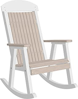 LuxCraft Classic Traditional Recycled Plastic Rocking Chair, Poly Porch Rocker