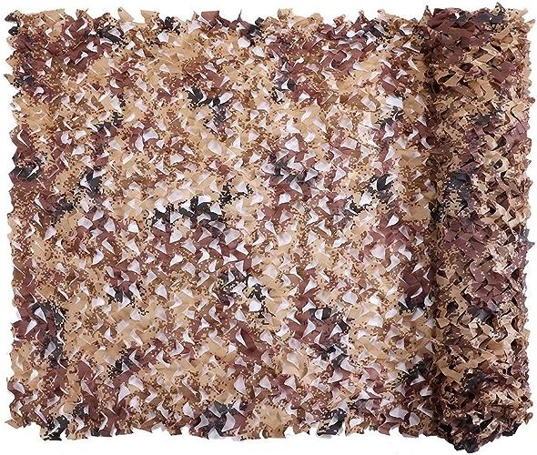 DGLIYJ Filet De Camouflage Désert, Filet De Camouflage en Tissu Oxford 210D, Sac De Prougeection De Bord, Décoration D'ombre en Plein Air (Taille   2x9m)