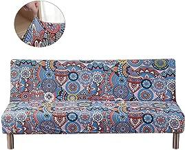TOPCHANCES Polyester Spandex Sofa Cover Stretch Sofa Bed Cover Futon Slipcover Full Folding Elastic Armless Non-Slip Settee Folding Couch Sofa Shield Futon Cover