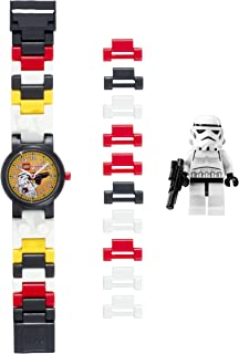 LEGO Star Wars 8020325 Stormtrooper Kids Buildable Watch with Link Bracelet and Minifigure | black/