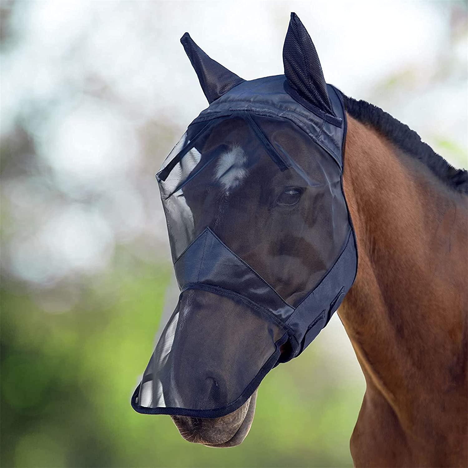 LiuMi Horse Mask with Ears Fly Manufacturer regenerated product Elastic Limited time trial price Ne Soft Smooth