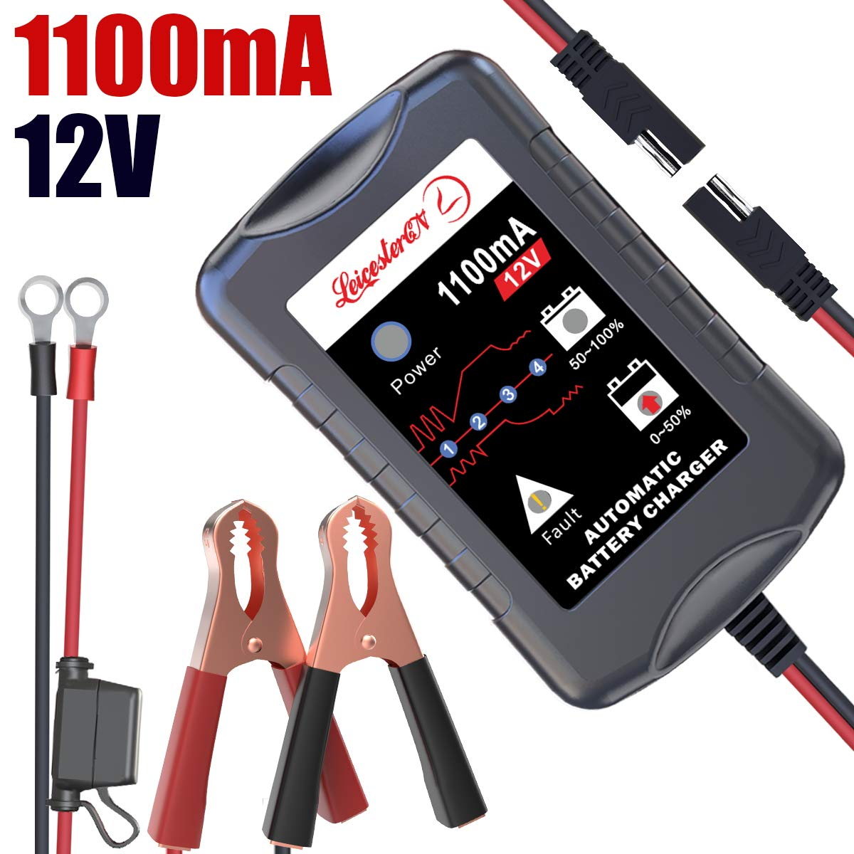 Battery Maintainer Portable Motorcycle Batteries