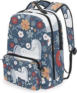 Mochila con bolsa cruzada desmontable, bonita mochila de unicornio, para viajes, senderismo, acampada