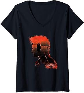 Femme Harry Potter Silhouette T-Shirt avec Col en V