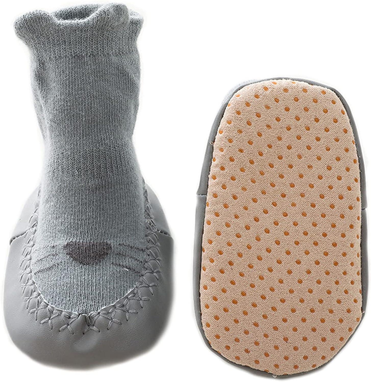 Baby indoor skin-friendly floor socks, children's combed cotton breathable non-slip middle tube footwear, newborn gift