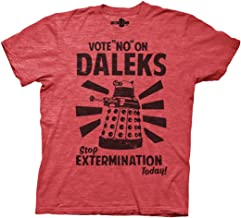 Ripple Junction Doctor Who Vote No to Daleks Adult T-Shirt