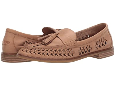 Sperry Seaport Penny PlushWave Woven Leather (Tan) Women