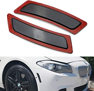 iJDMTOY Black Smoked Lens Front Bumper Side Markers For 2011-16 BMW F10/F11 5 Series 525i 528i 530i 535i 545i 550i M5, Replace OEM Amber Reflector Assy