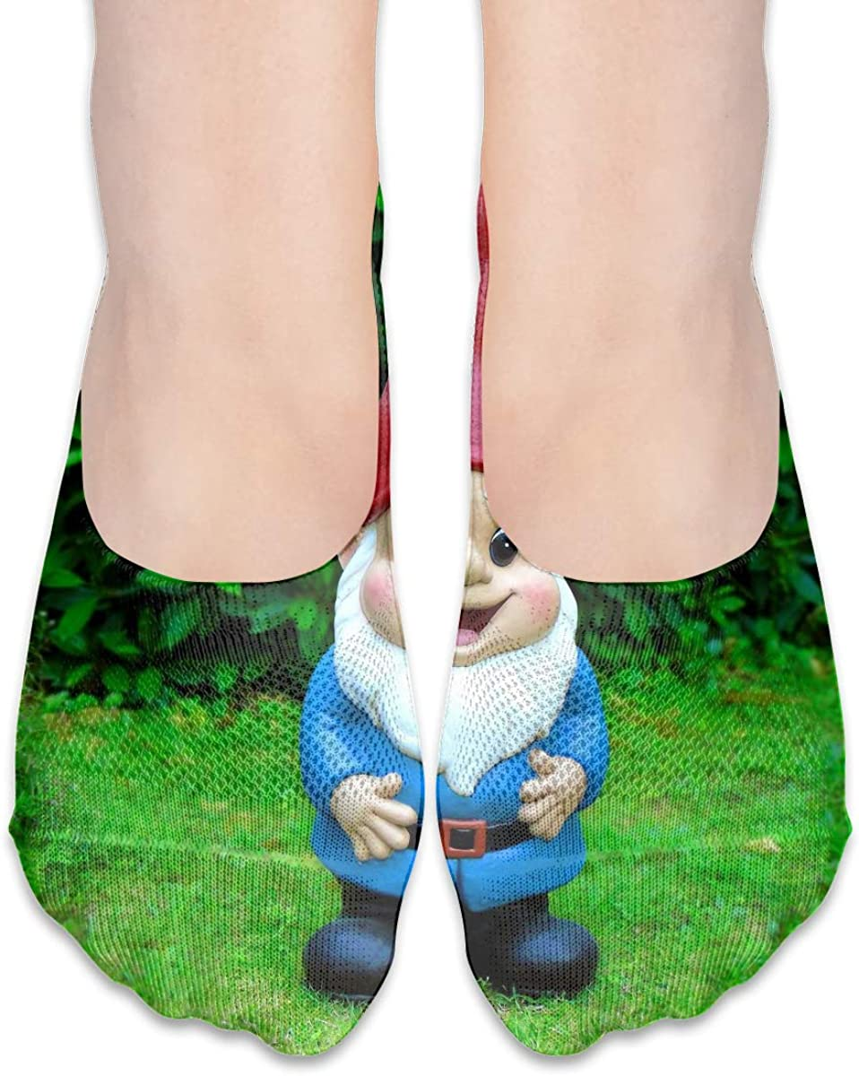 Cute Girl Garden Gnome Model Women Casual No-Show Socks Of Hidden Flat Boat Line,Low Cut Thin Sock