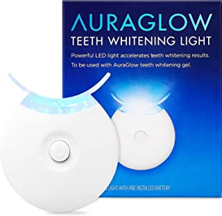 AuraGlow Teeth Whitening Accelerator Light, 5X More Powerful Blue LED Light, Whiten Teeth Faster