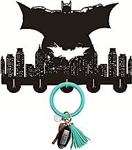 Porte-clés mural Batman - Crochet mural - Pour accrocher des clés, des portes, des vêtements, des chapeaux, de la cuisine,...