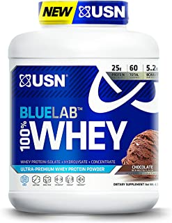 USN BlueLab 100 Percent Whey, 4.5 Pounds, Molten Chocolate
