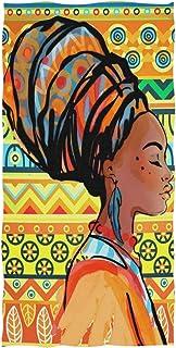 rodde Serviette de Bain Femme Afro-américaine Absorbant Serviettes de Bain à la Main Polyvalente pour Salle de Bains Hôtel...