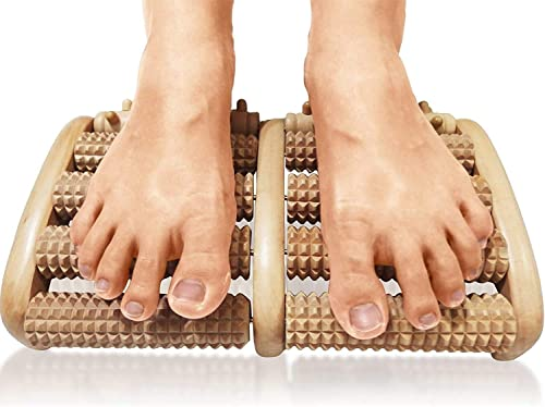 TheraFlow Dual Foot Massager Roller (Large). Relax and Relieve Plantar Fasciitis, Heel, Arch Pain. Stress Relief Tool...