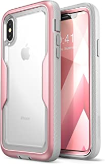 i-Blason Magma Series Case for iPhone X/iPhone Xs, Heavy Duty Protection Clear Back Shock Reduction/Full Body Bumper Case ...
