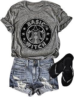 Hocus Pocus Shirt Women Basic Witch T-Shirt Halloween...