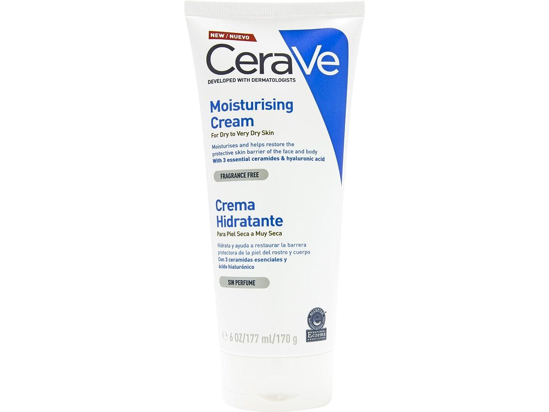 麻痺請求可能ギャングCerave Dry And Very Dry Skin Moisturizing Cream 170ml [並行輸入品]
