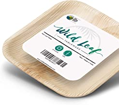 Disposable Mini Canape Plates, 4 Inch/ 25 Pack. Small Compostable and Biodegradable Tasting Plates, Perfect for Cocktail Parties and Catering Events. Eco Friendly Palm Plates by Wild Leaf Tableware