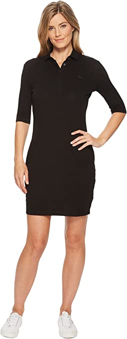 1/4 Sleeve Classic Stretch Mini Pique Polo Dress