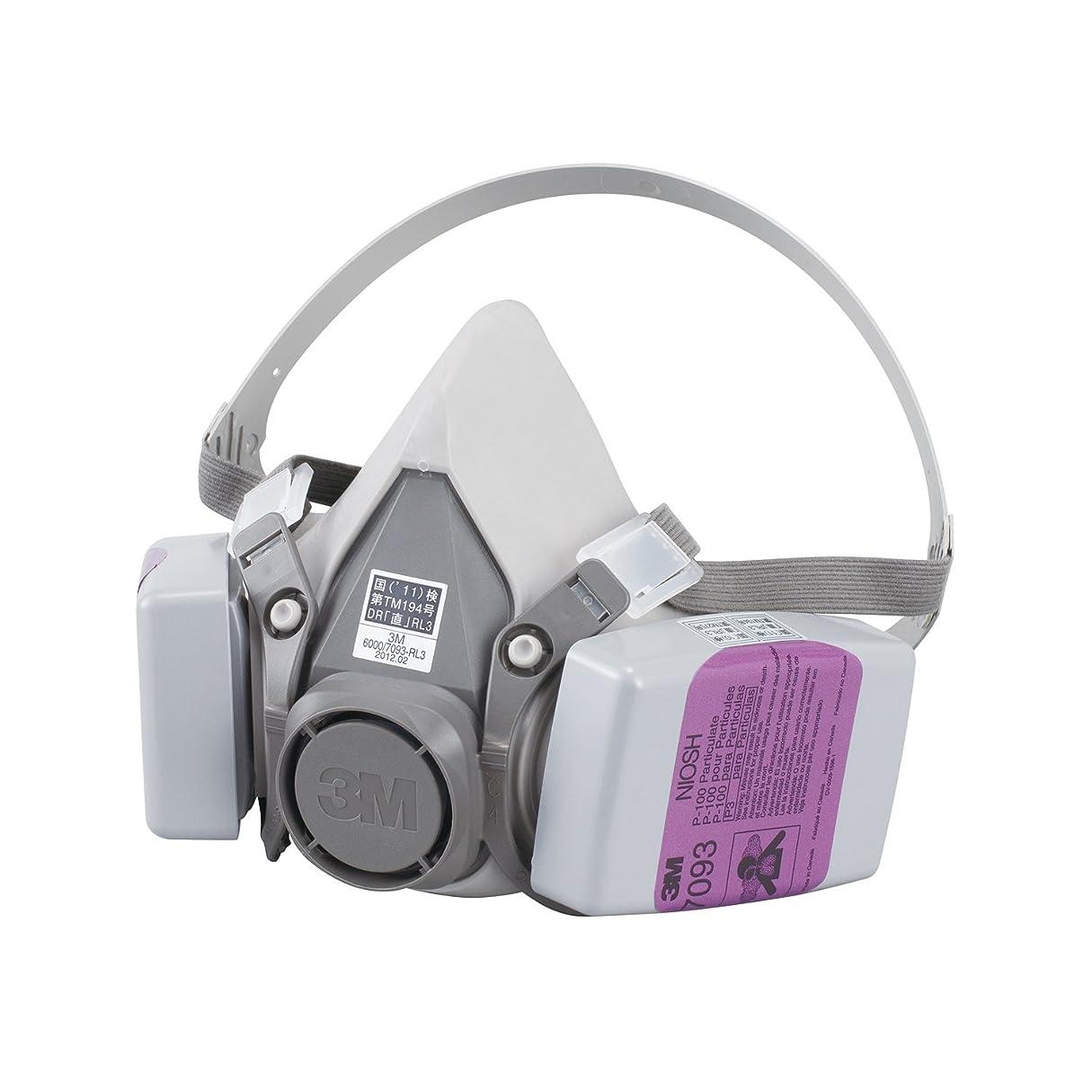 3M 取替え式防じんマスク 6000/7093-RL3 ラージ 6000/7093-RL3 L