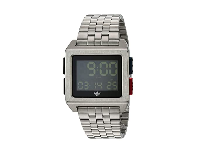 adidas  Archive_M1 (Silver/Black/Blue/Red) Watches