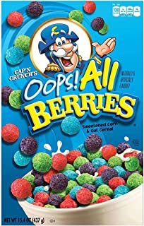 Cap'n Crunch's Oops All Berries Cereal 15.4 Oz (Set of 2)