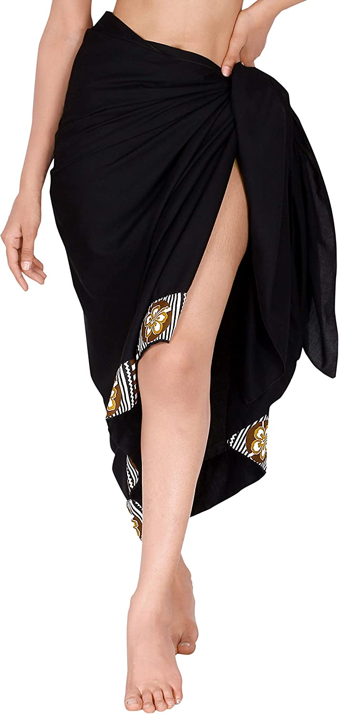 LA LEELA Women's Full Maxi Swimsuit Cover Ups Beach Sarong Plus Size Full Long C