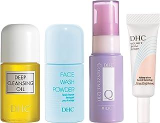 DHC Refreshing Travel Essentials, includes Deep Cleansing Oil Mini 1 fl. oz, Fash Wash Powder Mini .53 oz, CoQ10 Milk Mini...
