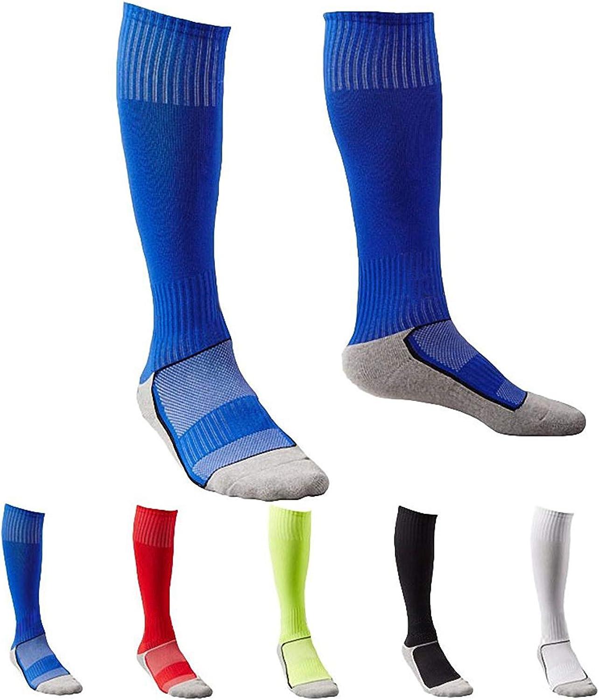 5 Pair Long Athletic Football / Soccer Socks, Sport Tube Socks, Over the Knee High Cotton Socks,Over Calf Socks