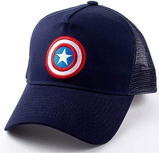 cotton division Capitán América Malla Basecap Shield Logo Marvel Azul