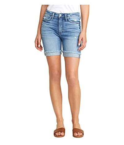 Silver Jeans Co. Sure Thing High-Rise Long Shorts L28505SJL244 (Indigo) Women