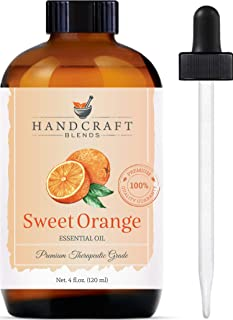 Handcraft Sweet Orange Essential Oil - 100% Pure and Natural - Premium Therapeutic Grade with Premium Glass Dropper - Huge...