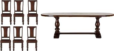 Shakti 6 Seater Dining Room Set (Brown, FCB-DT96-6C)