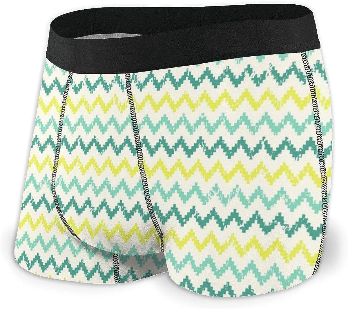 Randolph Wordsworth Mens Boxer Briefs Tribal Seamless Green Striped Breathable Underwear