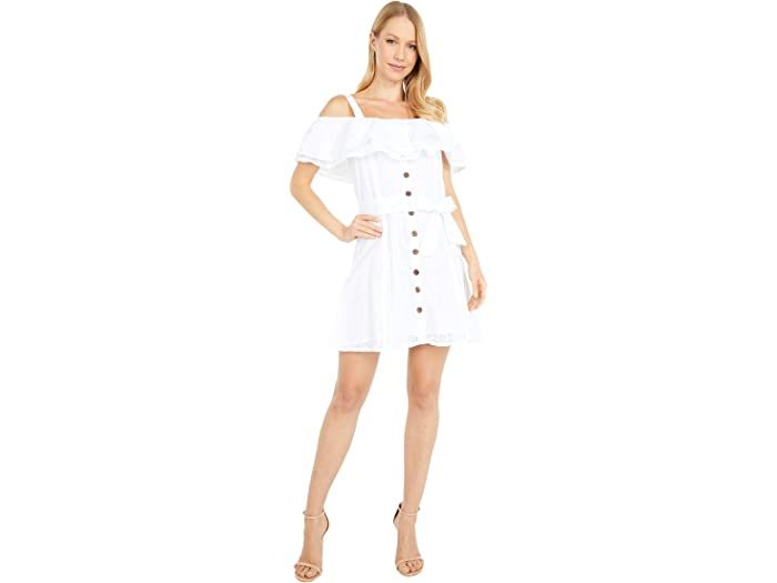 Rock and Roll Cowgirl D5-5140 White Ruffle Lace Dress