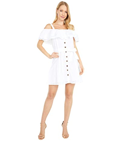 Rock and Roll Cowgirl Ruffle Lace Dress D5-5140 (White) Women