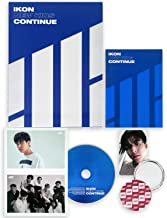IKON Mini Album - NEW KIDS : CONTINUE [ Blue Ver. ] CD + Photobook + Postcard + Photocard + FREE GIFT / K-Pop Sealed