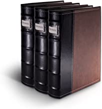 Bellagio-Italia Brown DVD Storage Binder Set - Stores Up to 144 DVDs, CDs, or Blu-Rays - Stores DVD Cover Art - Acid-Free Sheets