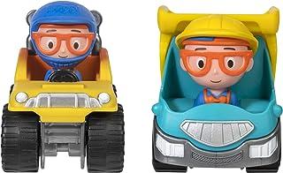 Blippi Mini Vehicle 2 Pack, Dump Truck and Monster Truck