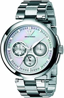 Emporio Armani Womens Quartz Watch, Chronograph Display and Stainless Steel Strap AR0734