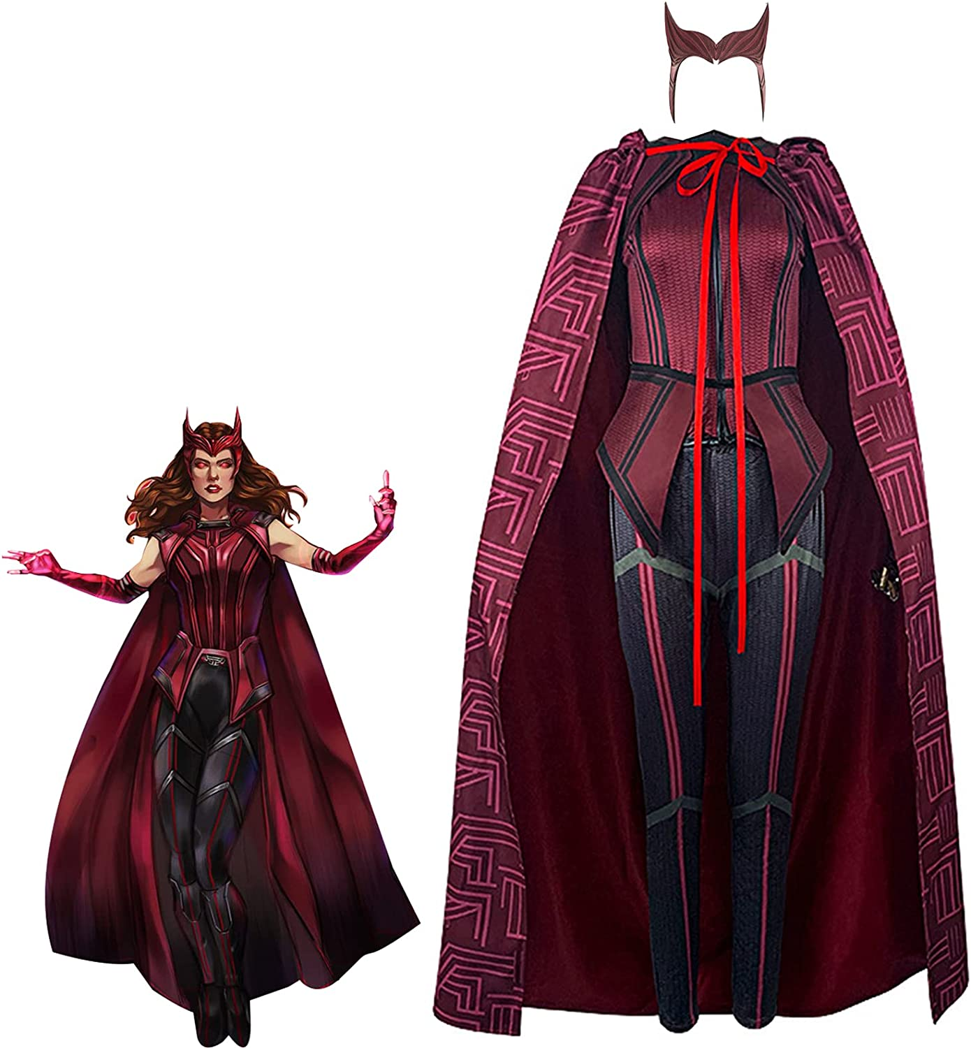 Wanda Maximoff OFFicial site Costume Cosplay Witch Ranking TOP20 Scarlet Cloak Vision