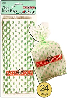 Monopoly Money Design Clear Cellophane Cello Bags, Pack of 24
