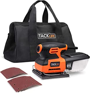 TACKLIFE 1/4 Sheet Sander, 2.2A Palm Sander with 12Pcs Sanding Sheets, Hook and Loop Pad, Carrying Bag, 10Feet Length Power Cord PSS01A