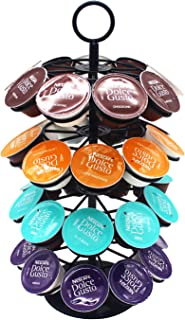 Wdmiya Support de Capsules de Café Rotatif 36 pièces 360 Degrés Rotable Porte, Distributeur Présentoir,Stockage et Organis...