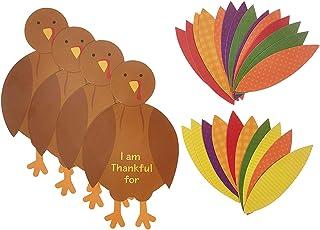 Amscan 3 Pack Thanksgiving Turkey Craft Kit | Makes 12 Turkeys | Party Activity