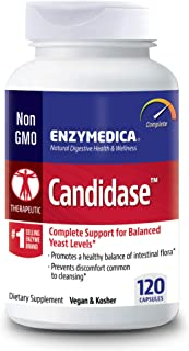 Enzymedica, Candidase, 120 Capsules, Enzyme Supplement to Support Balanced Yeast Levels and Digestive Health, Vegan, 60 Se...
