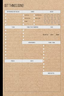 """Get Things Done: Getting Things Done Journal, Get Things Done Notebook, Cute Cardboard Cover, Page 120, Size 6""""X9""""( Volume-1)"""