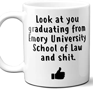 Emory University School of Law College Grad Gift Mug For Student. 11 ounces.